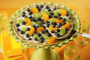 Blueberry dessert pizza picture