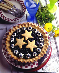 Double Blueberry Cookie Pie