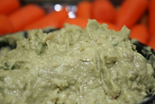 Basil Avocado Dip Recipe Made with Young Living Essential Oils