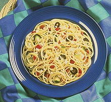 Picture of Spaghetti with Roasted Zucchini and Olives