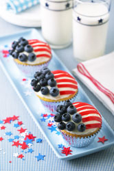 4th of July Flag Cupcakes
