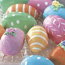 Easter Golden Mini Egg Cakes