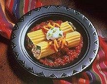 Super Bowl Manicotti Enchiladas